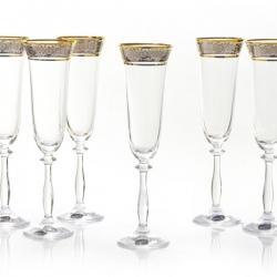 Фужеры для шампанского Angela 6 шт. 40600-190-43249