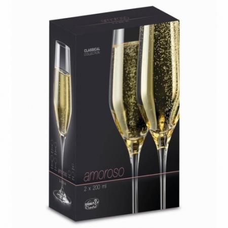 Фужеры для шампанского Amoroso 2 шт. 40651/2-200